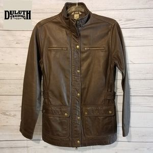 Duluth Trading Co Women's Leather Jacket